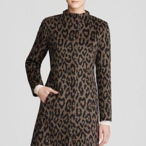CINZIA ROCCA Leopard Print Wool/Alpaca Coat Sz 4